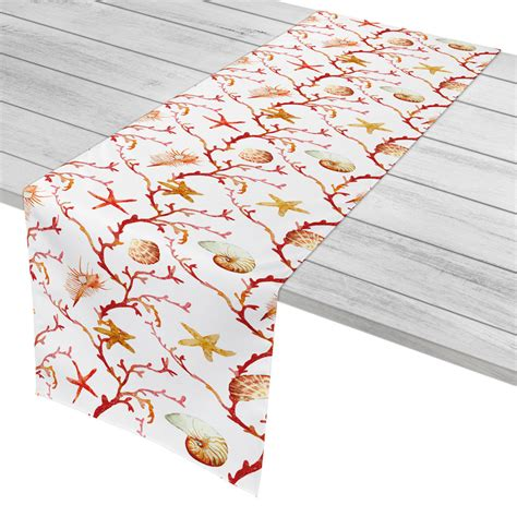 coral table runners coral lattice table runner