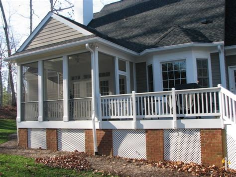 covered porch fence pro covered and screened porches