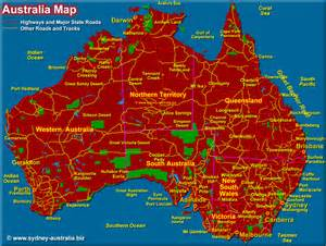 australia map states and cities maps