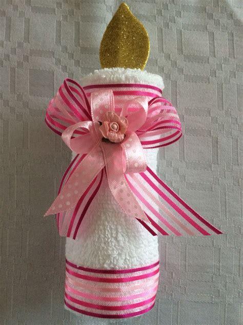 vela de toalla de manos recuerdo para bautizo ceremonias figuras con toalla baptism ideas