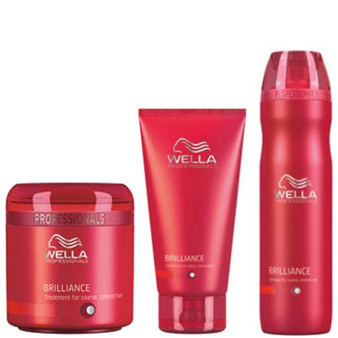 Five Conditioners For Coloured Hair by Wella Professionals Brilliance Trio For Coarse Coloured