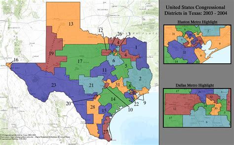 texas district map file united states congressional districts in texas 2003 2004 tif wikimedia commons