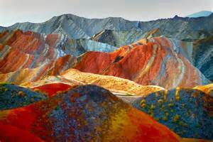 colorful mountains incredibly colorful rock formations in china bored panda