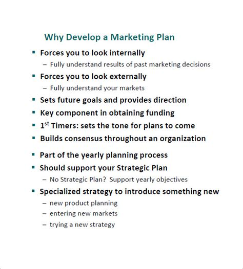developing a marketing plan template 11 simple marketing plan template free sle exle