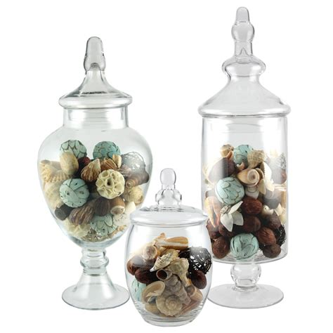apothecary jar 3 piece set wedding candy buffet ebay