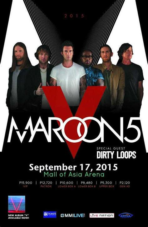 8428 Manila Maron maroon 5 coming to manila for 2015 concert