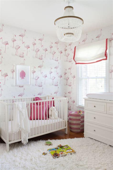 flamingo wallpaper room washington dc nursery project nursery