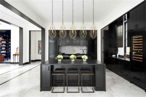 modern neoclassical home features chic color palette