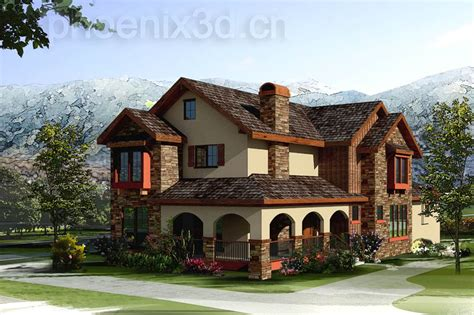 different styles of houses close renderings different types houses building plans