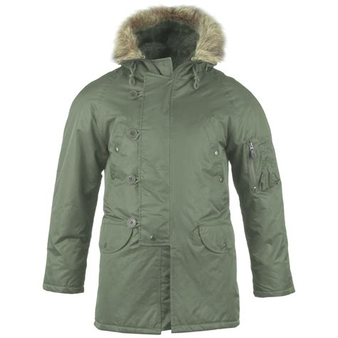 Parka Green Army List Parka Army Premium army n3b snorkel parka cold weather style jacket olive green xs 3xl ebay