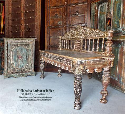 banc indien banc indien ancien jn7 la688 meubles indiens banquette