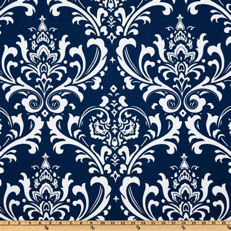 Navy Blue And White Upholstery Fabric by Navy Damask Yardage Navy Blue And White Damask Fabric Blue