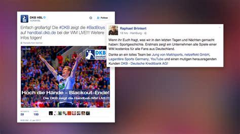 wann gab es die erste brille dkb und der content marketing scoop zur handball wm wann