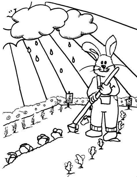 spring garden coloring pages free spring garden coloring pages
