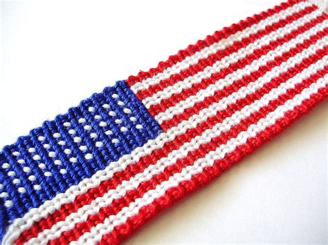 Accurate American Flag Friendship Bracelet by QuietMischief on DeviantArt