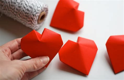 Hearts Origami - 3d origami hearts how about orange