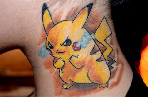 my pikachu tattoo by taji chan on deviantart