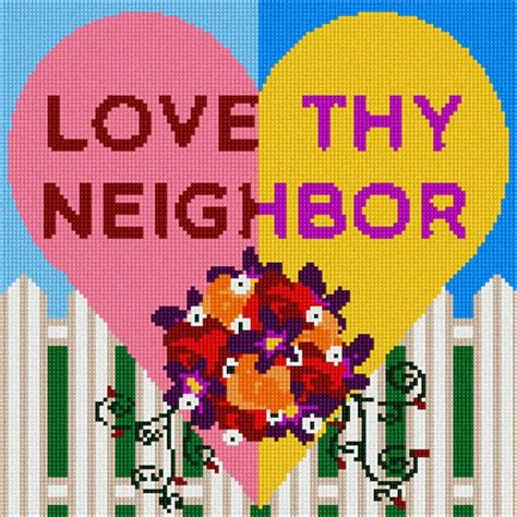 images of love thy neighbor needlepoint canvas love thy neighbor