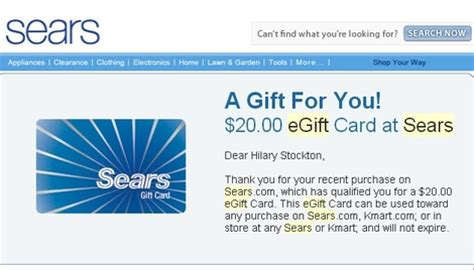Gift Cards At Sears - sears 20x points and bonus gift cards 43 back from spend travelsort
