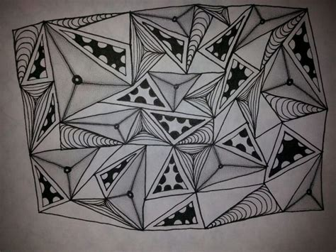 zentangle triangle pattern 1804 best zentangle 174 tiles images on pinterest tangled