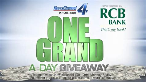 rcb bank meet the one grand a day giveaway winner you could