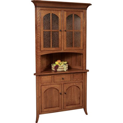 bunker hill server corner hutch amish crafted furniture