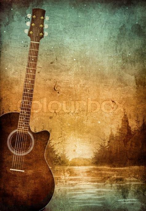 imagenes retro guitarra old paper retro music party texture background stock