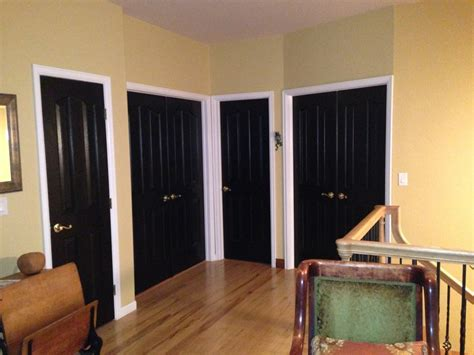 black painted interior doors interior doors painted black it doors