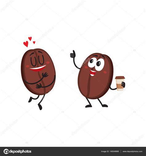 caffe personaggi due personaggi divertenti chicco di caff 232 mostrando
