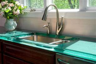 Glass Kitchen Countertops by Modern Kitchen Countertops From Unusual Materials 30 Ideas