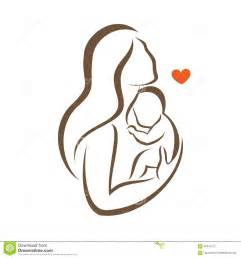 kid ink hand tattoo mother and baby stylized vector silhouette stock vector image 59441212