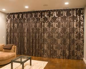 window treatments contemporary living room chicago