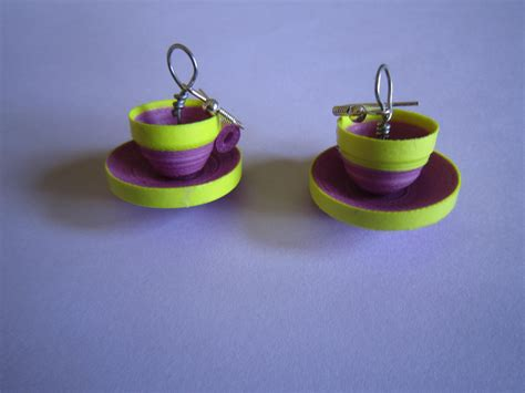 Paper Craft Earrings - paper earrings
