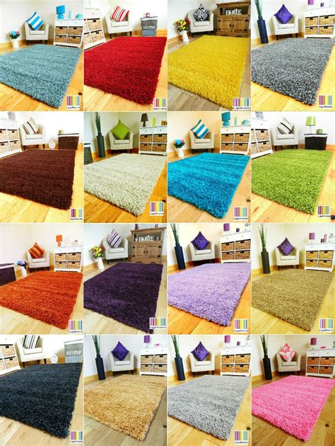 Soft Area Rugs For Living Room - new plain soft thick colorful shaggy area rug living room