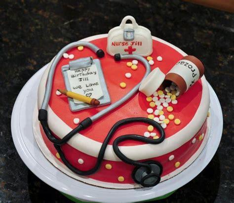 Nurse Themed Cake Decorations Birthday Cake For Nurse In Red Hospital Theme Jpg Hi Res