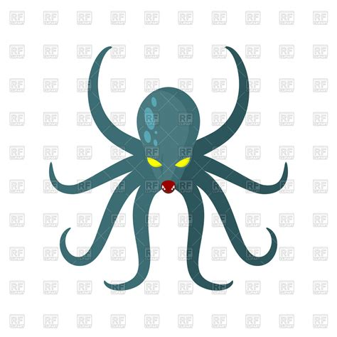 clipart royalty free angry octopus royalty free vector clip image