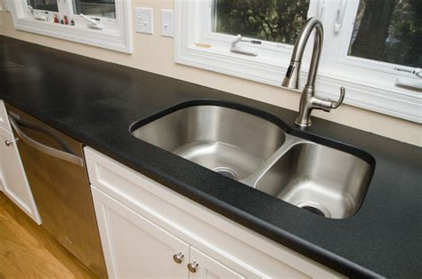 Honed Granite Bathroom Countertops Absolute Black Honed And Saturnia Granite Transitional