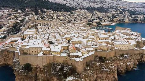 dubrovnik snow winter is coming dubrovnik has been transformed into a winter by snowfall