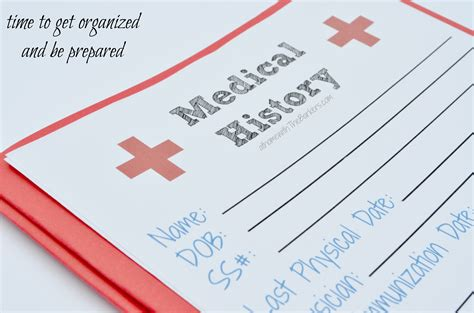 printable medical images medical history free printable at home with the barkers