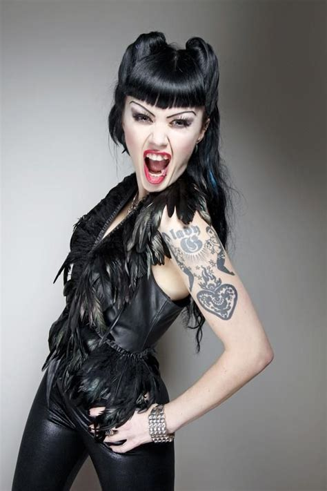 dominatrix hairstyle hot metal rock chicks