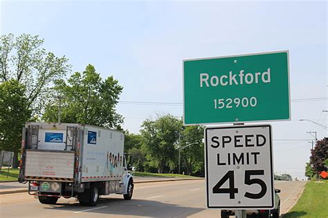 rockford has a problem with its population signs
