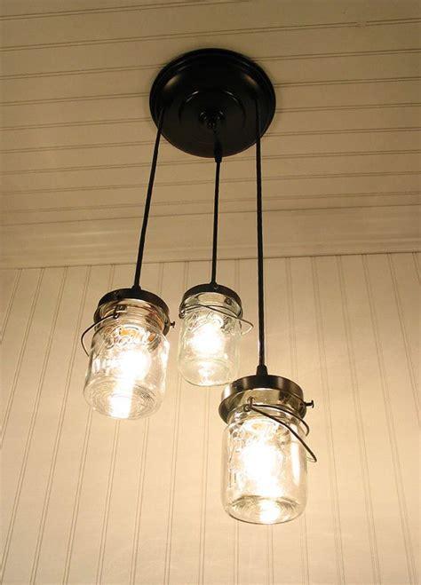 canning jar lights chandelier vintage clear canning jar chandelier created new porch