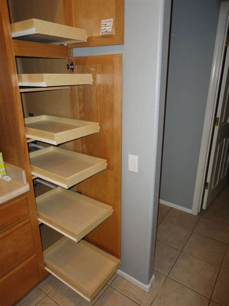 Sliding Shelves Pantry by Slide Out Pantry Shelves Pull Out Pantry Shelves