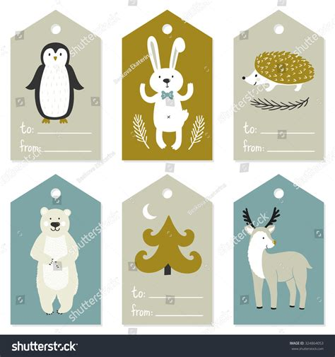 gift vector label elements webbyarts vector set gift tag labels stock vector