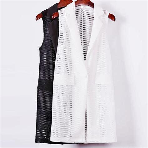 Pakaian Wanita Vest Putih buy grosir hitam tombol rompi from china hitam