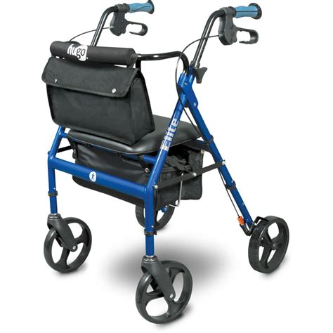 walkers with a seat hugo 174 elite rolling walker with a seat pacific blue