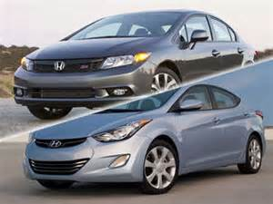 Hyundai Elantra Vs Honda Civic 2015 Honda Civic Vs 2015 Hyundai Sonata Compare Reviews