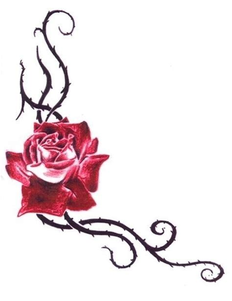 rose thorn vine tattoos 1000 ideas about on inner wrist