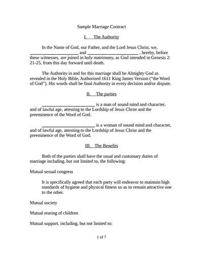 marriage contract template images templates design ideas