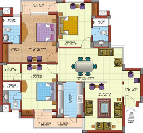 bedroom floor l 3 bedroom floor plans with dimensions 3 bedroom house
